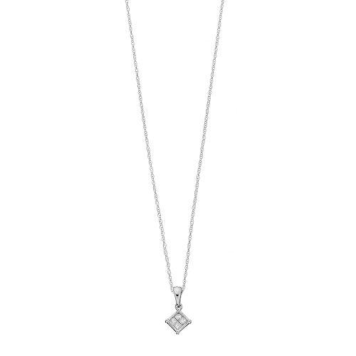 10k Gold 1/10 Carat T.W. Diamond Pendant