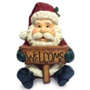 "National Tree Company 16-in. ""Welcome"" Santa Christmas Floor Decor"