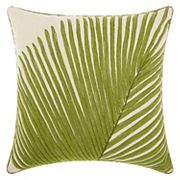 Mina Victory Royal Palm Frond Throw Pillow