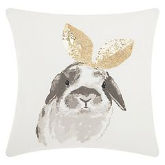 Mina Victory Trendy, Hip & New Age Bunny Ears Throw Pillow