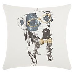 Mina Victory Trendy, Hip & New Age Glitter Dalmation Throw Pillow