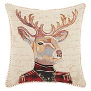 Mina Victory Trendy, Hip & New Age Marching Deer Throw Pillow