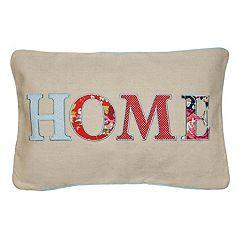 Spencer Home Decor 'Home' Patch Oblong Throw Pillow