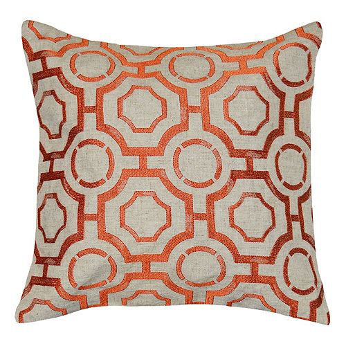 Spencer Home Decor Liam Lattice Throw Pillow