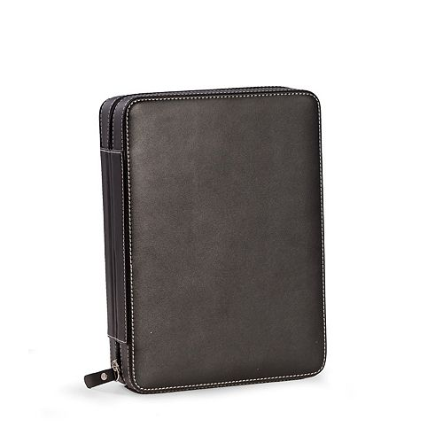 Bey-Berk Leather Watch and Sunglasses Travel Case