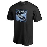 Men's Majestic New York Rangers Logo Tee