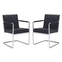 Zuo Modern Quilted Dining Chair 2-piece Set