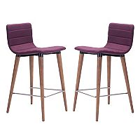 Zuo Modern Mid-Century Counter Stool 2 pc Set