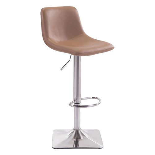 Zuo Modern Contemporary Faux-Leather Adjustable Stool
