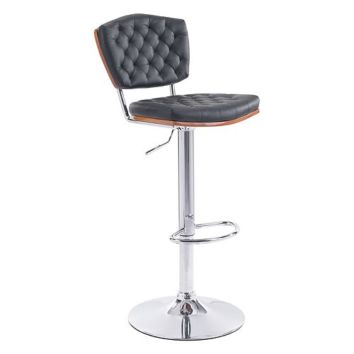Zuo Modern Quilted Faux-Leather Adjustable Stool