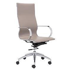 Zuo Modern High Back Adjustable Glider Desk Chair