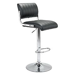 Zuo Modern Juice Adjustable Faux-Leather Stool