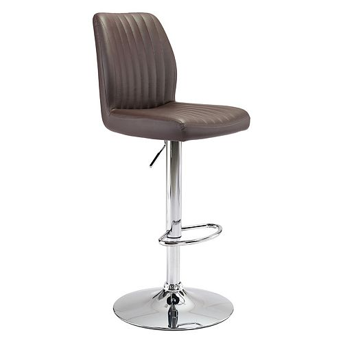 Zuo Modern Tufted Faux-Leather Adjustable Stool