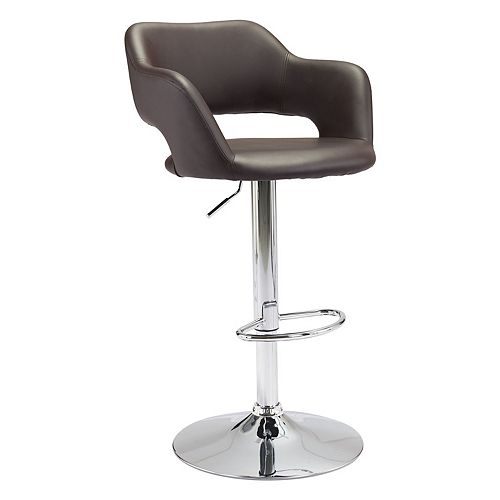 Zuo Modern Hysteria Adjustable Faux-Leather Stool