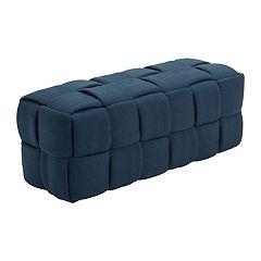 Zuo Modern Checks Upholstered Bench