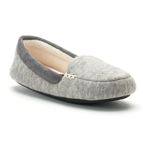 7996ad1bc Women's isotoner Marisol Microsuede Heather Knit Moccasin Slippers