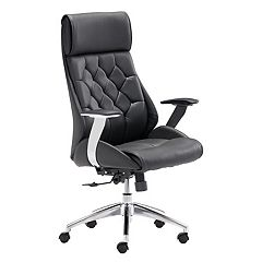 Zuo Modern Boutique Faux-Leather Adjustable Desk Chair