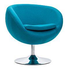 Zuo Modern Lund Round Arm Accent Chair