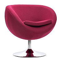 Zuo Modern Lund Round Arm Accent Chair