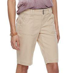 Juniors' Unionbay Blanche Solid Bermuda Shorts