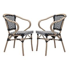 Zuo Modern Paris Patio Arm Dining Chair 2-piece Set