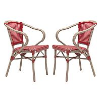 Zuo Modern Paris Patio Arm Dining Chair 2 pc Set