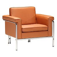 Zuo Modern Faux-Leather Arm Chair