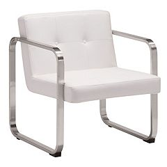 Zuo Modern Varietal Faux-Leather Arm Chair