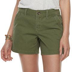 Juniors' Unionbay Elsie Stretch Twill Midi Shorts