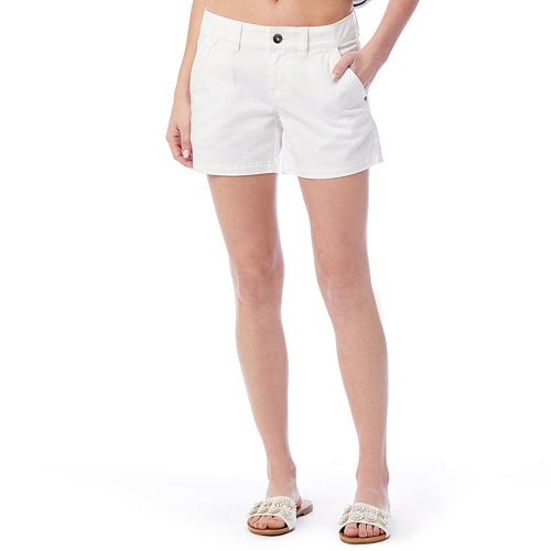 Juniors' Unionbay Elsie Stretch Twill Midi Shorts