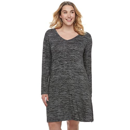 Plus Size SONOMA Goods for Life™ Marled Swing Dress