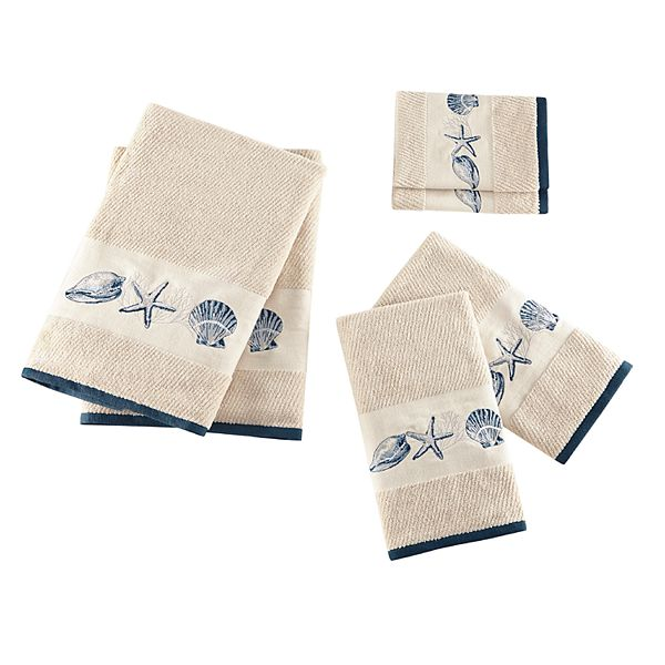Madison Park Nantucket Embroidered Jacquard 6 Piece Towel Set
