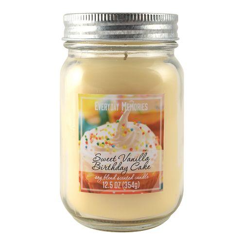 Everyday Memories Sweet Vanilla Birthday Cake 125 Oz Candle Jar