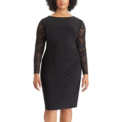 Plus Size Chaps Lace-Sleeve Sheath Dress