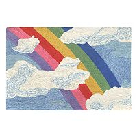 Trans Ocean Imports Liora Manne Frontporch Rainbow & Clouds Indoor Outdoor Rug