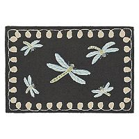 Trans Ocean Imports Liora Manne Frontporch Framed Dragonfly Indoor Outdoor Rug