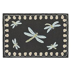 Liora Manne Frontporch Framed Dragonfly Indoor Outdoor Rug
