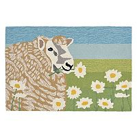Trans Ocean Imports Liora Manne Frontporch Sheep Thrills Indoor Outdoor Rug