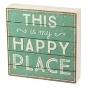 'Happy Place' Box Sign Art