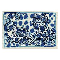 Trans Ocean Imports Liora Manne Frontporch Foo Dogs Indoor Outdoor Rug