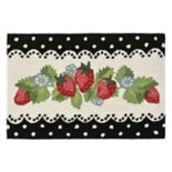 Liora Manne Frontporch Strawberries Indoor Outdoor Rug
