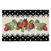 Liora Manne Frontporch Strawberries Indoor Outdoor Rug
