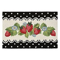 Trans Ocean Imports Liora Manne Frontporch Strawberries Indoor Outdoor Rug