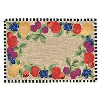 Trans Ocean Imports Liora Manne Frontporch Framed Fruits Indoor Outdoor Rug