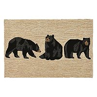 Trans Ocean Imports Liora Manne Frontporch Bears Indoor Outdoor Rug