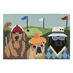 Liora Manne Frontporch Putts & Mutts Indoor Outdoor Rug
