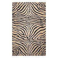 Trans Ocean Imports Liora Manne Seville Zebra Print Wool Rug - 9' x 12'