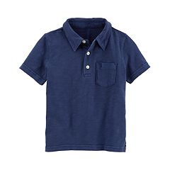 Toddler Boy Carter's Garment-Dyed Solid Polo