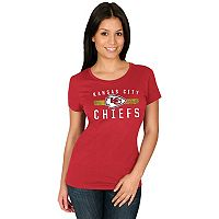 Women's Majestic Kansas City Chiefs Franchise Fit Tee