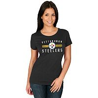 Women's Majestic Pittsburgh Steelers Franchise Fit Tee